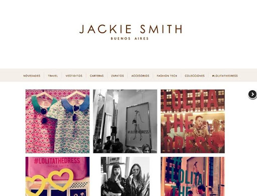 Jackie Smith shopping website