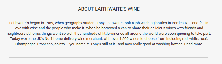 Product description for Laithwaites wine