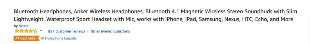 Anker bluetooth headphones product description