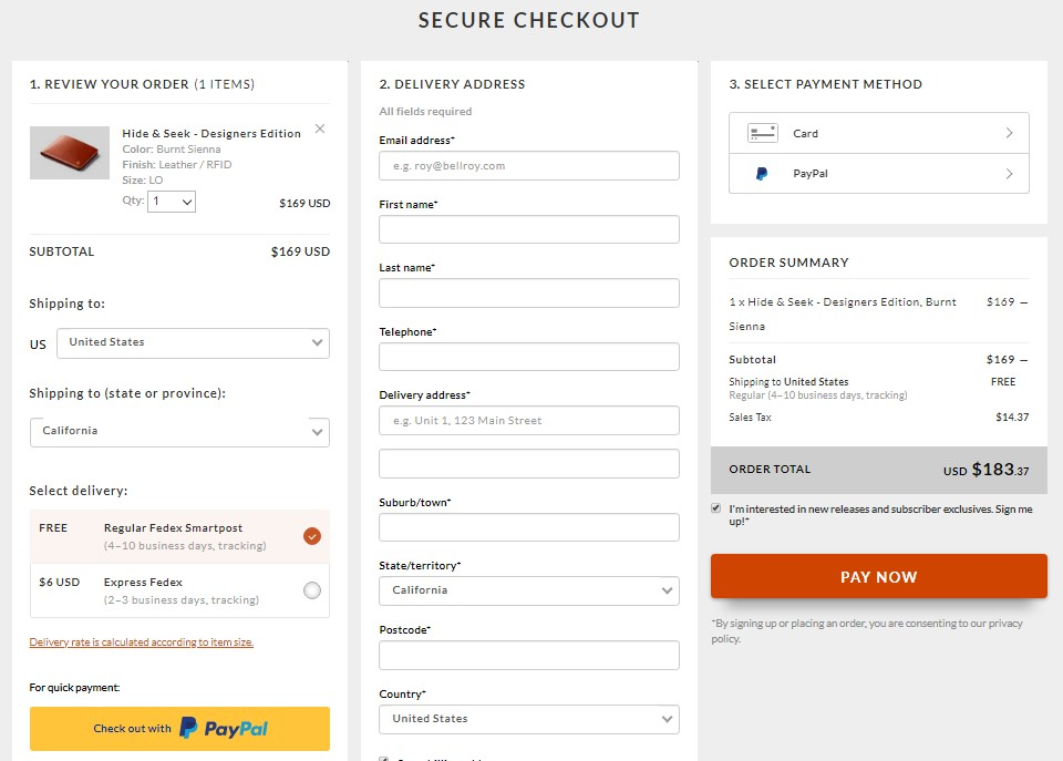 6 Steps To Creating An Ecommerce Checkout Page That Converts